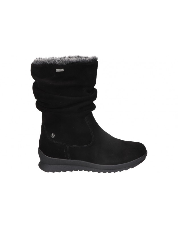Botines para moda joven planos c. tapioca c1065-1 en negro