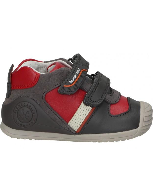 Zapatos para niño planos biomecanics 211132 b en gris