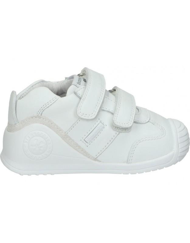 Zapatos biomecanics 151157 e1 blanco para niño