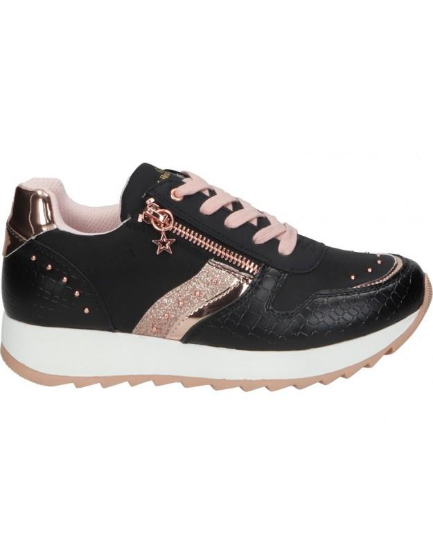 Zapatos para niña chk10 new rosa 21 negro