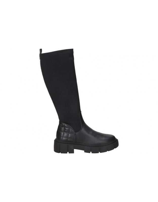 Botas para moda joven tacón mtng 50190 en negro