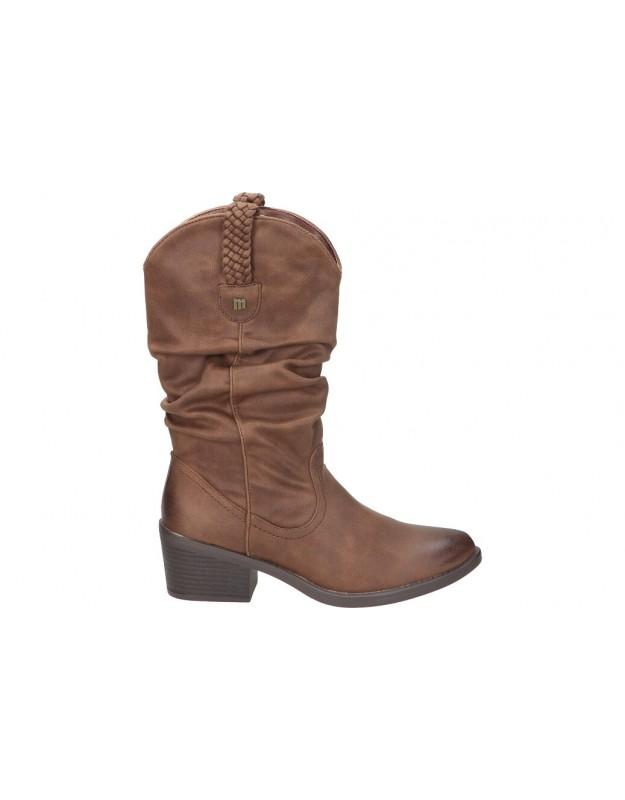 Botas casual de moda joven mtng 51678 color marron