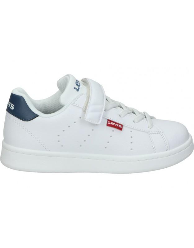 Zapatos casual de niño levi´s kids avenue velcro color blanco