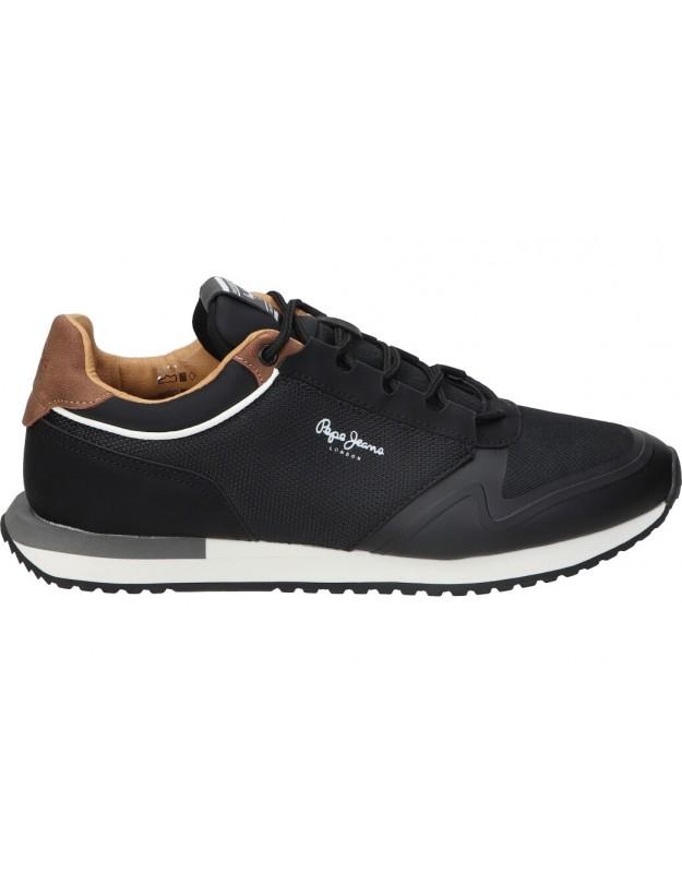 Zapatos color negro de casual pepe jeans pms30775