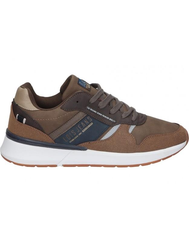 Zapatos para caballero planos lois 64139 en marron