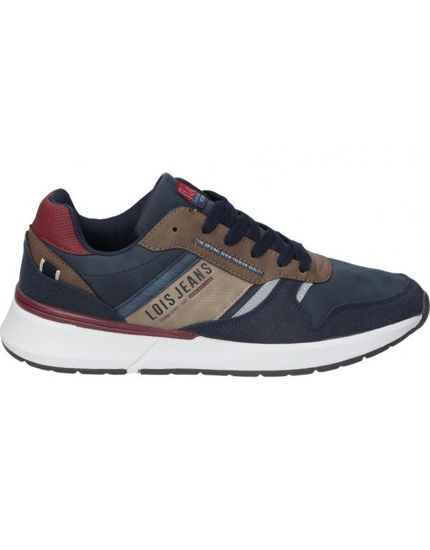 Zapatos color marino de casual lois 64139
