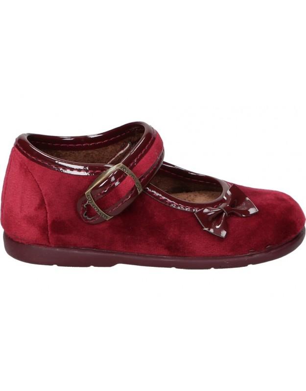 Zapatos para niña planos vulca-bicha 1563 en burdeos