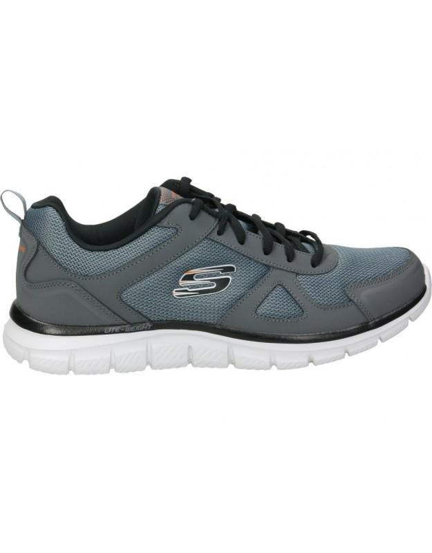 Deportivas color gris de casual skechers 52631-ccbk