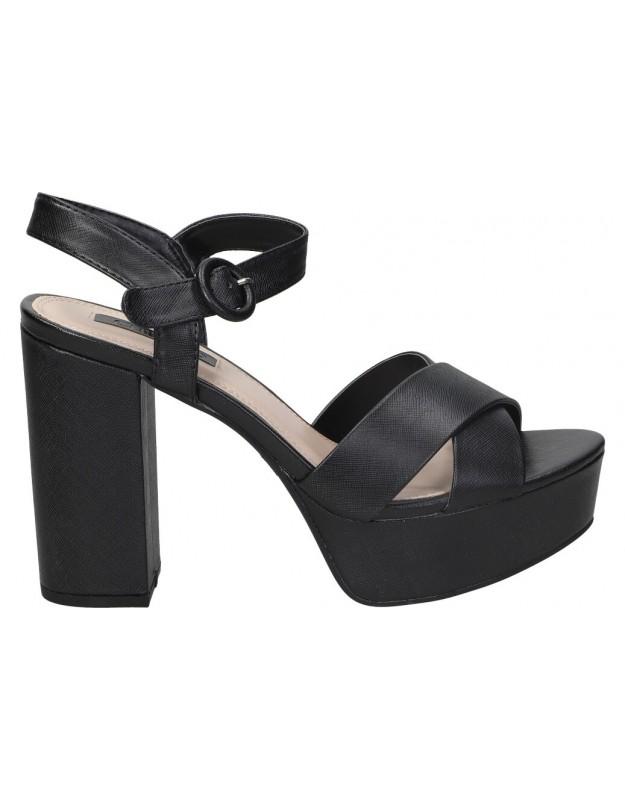 Sandalias para moda joven tacón chk10 new taylor 01 en negro