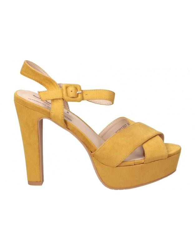 Sandalias color amarillo de casual own w1901207.
