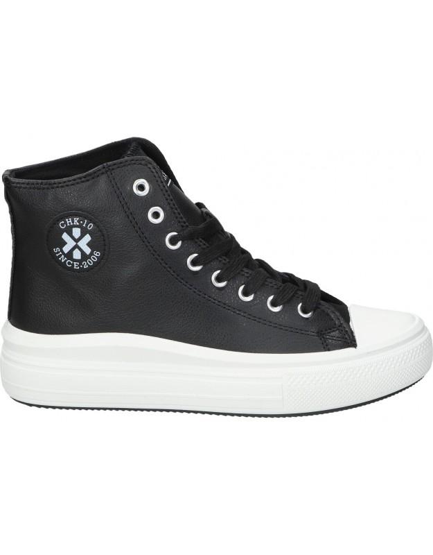 Botines casual de moda joven chk10 capital 05 color negro