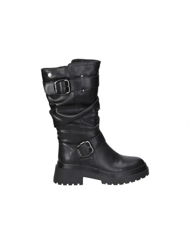 Botas para moda joven tacón refresh 76542 en negro