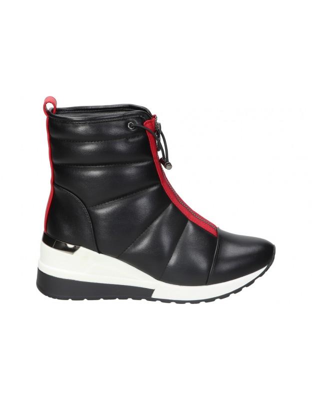 Botines para moda joven REVEL WAY 84202 negro