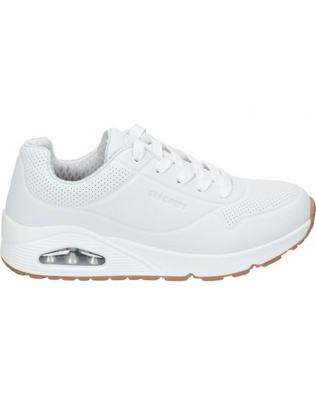 Skechers blanco 403674l-wht deportivas para señora