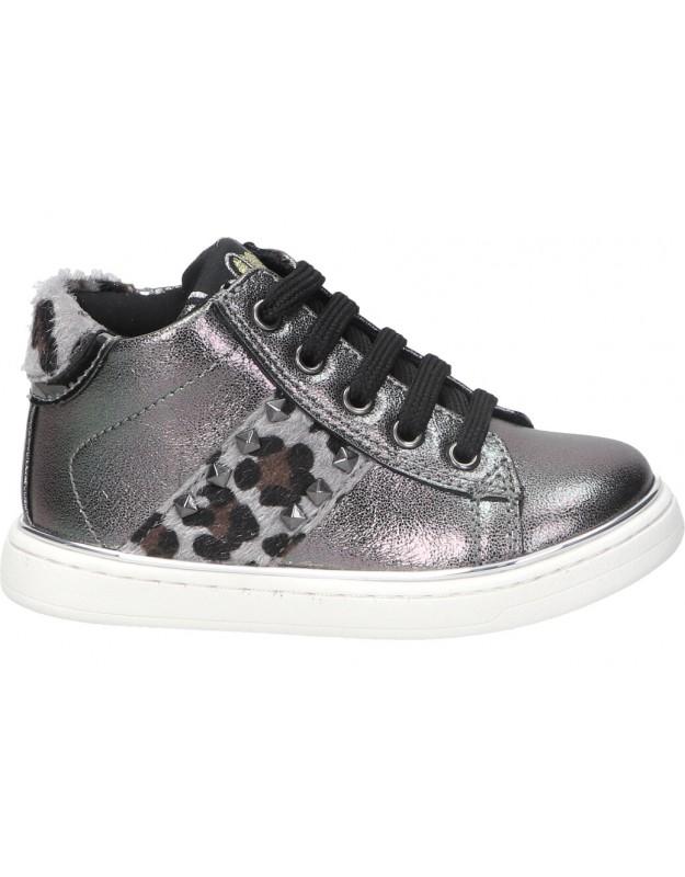 Zapatos color plata de casual asso 12681