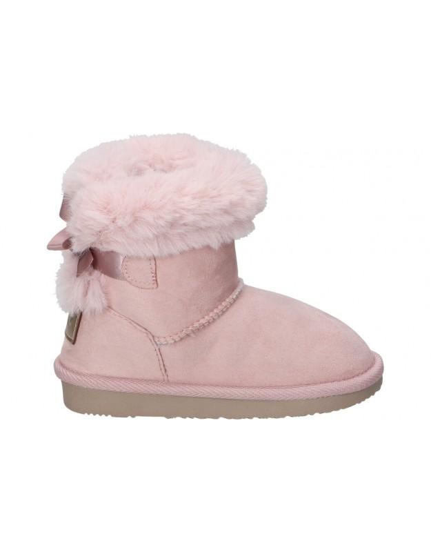 Botas para niña planos conguitos lis140 66 en rosa