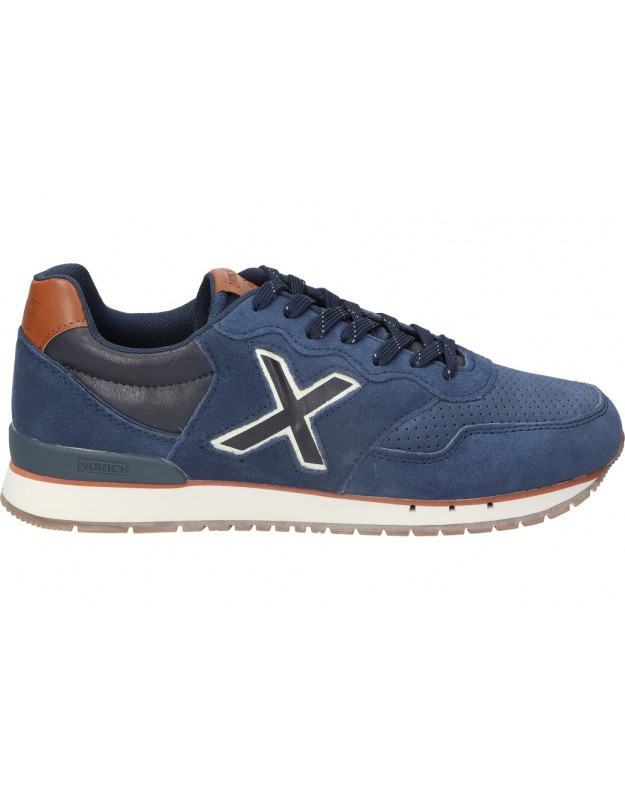 Deportivas color azul de sport munich dash premium-98