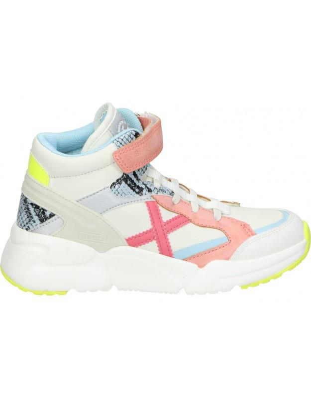 Deportivas munich mini track boot vco-06 blanco para niña