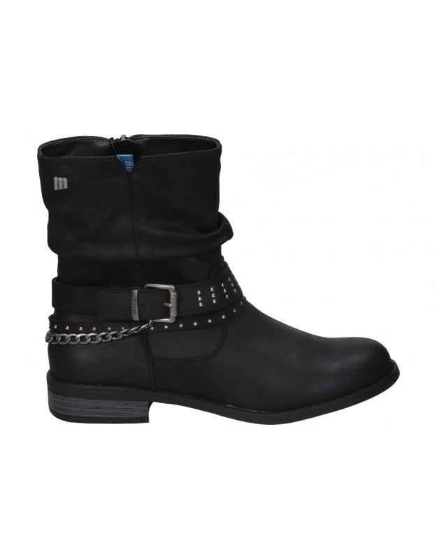 Botines para moda joven tacón mtng 51892 en negro