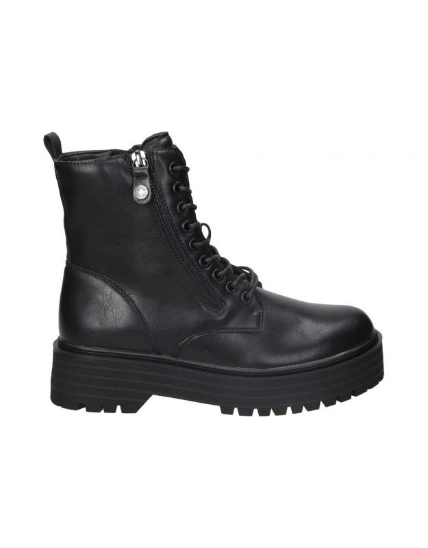 Botines casual de moda joven refresh 76265 color negro