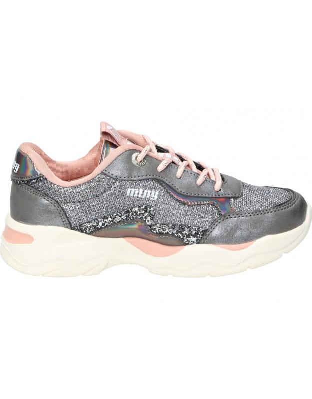 Zapatos mtng 48325 plata para niña