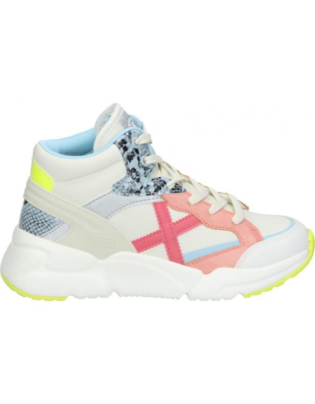 Deportivas para niña munich mini track boot cord-06 blanco