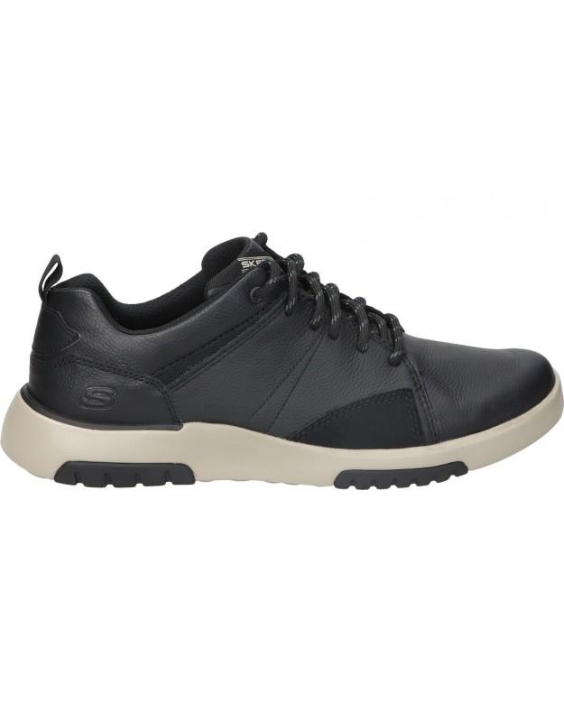 Zapatos casual de caballero SKECHERS 66323-blk color negro