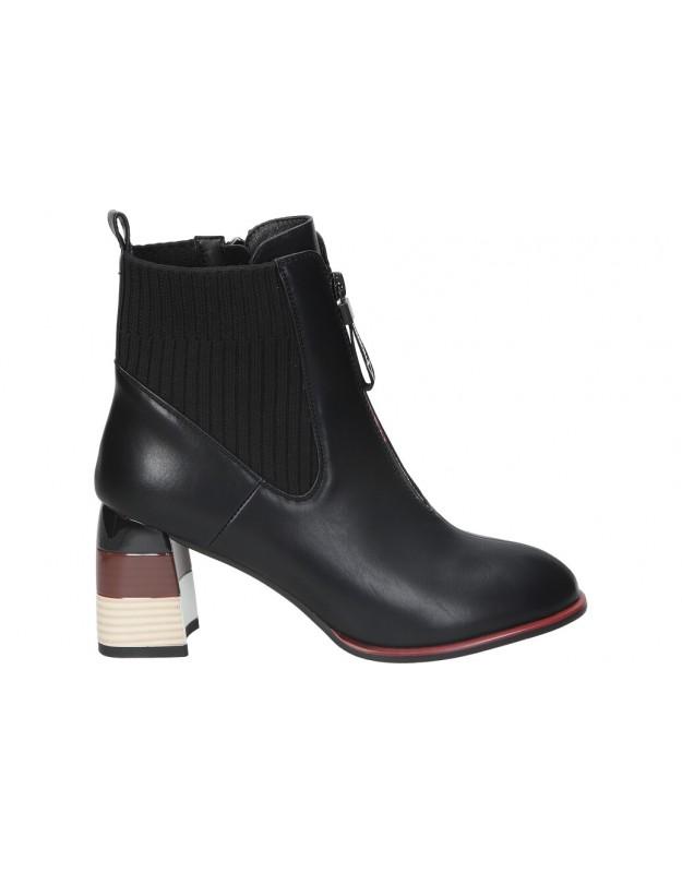 Botines REVEL WAY 84162 negro para moda joven