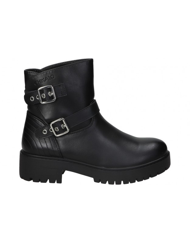 Botines para moda joven  CHK10 alhambra 04 en negro