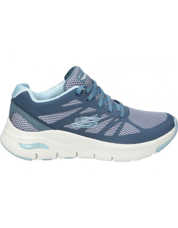 SKECHERS azul 149055-nvlb deportivas para señora