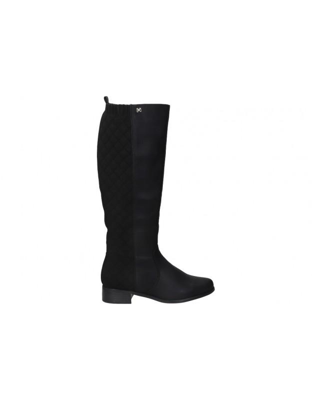 Botas para moda joven planos MARIA MARE 63013 en negro