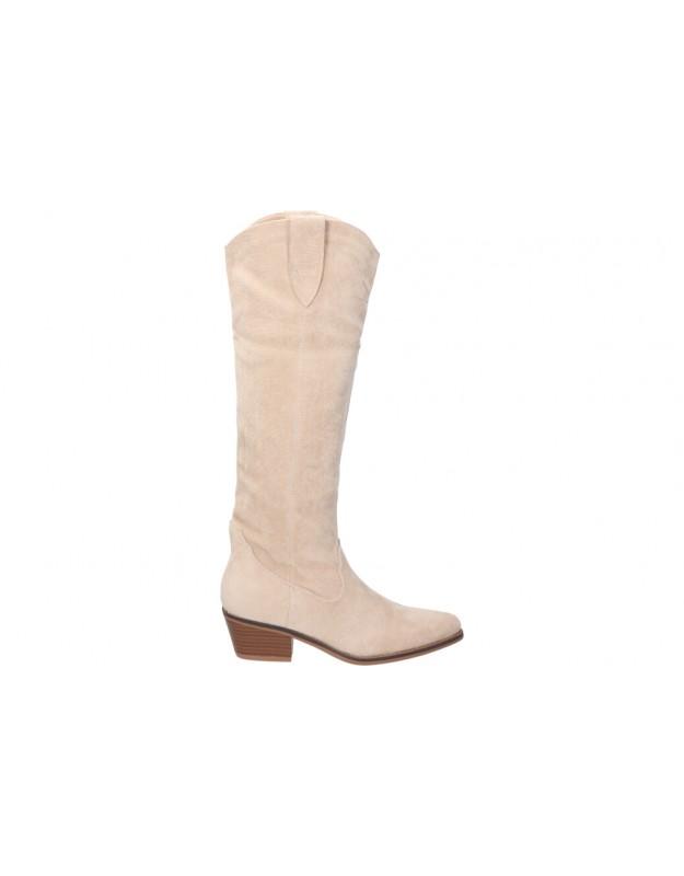 Botas  de señora BUONAROTTI 2a1475 color beige