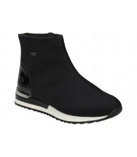 Sandalias para moda joven cuña okios libertad 003 en negro